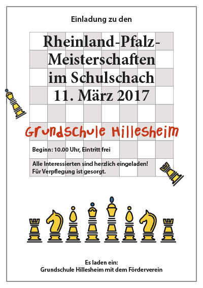 Grundschule Hillesheim lädt ein zu den Rheinland-Pfalz-Meisterschaften im Schulschach