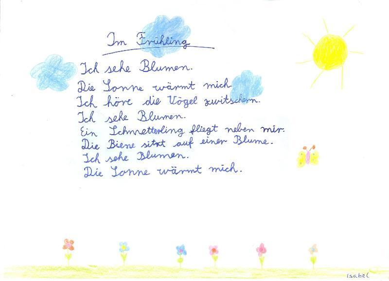Grundschule Hillesheim Blog Archive Der Frühling Im Gedicht