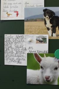 Eine Postkarte von Mayke für Nora.